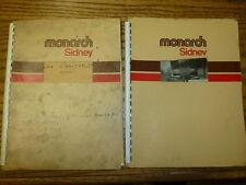 Monarch Sidney Model: Nn-27557-At Lathe Operator & Parts Manual