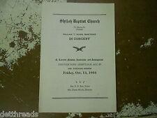 Vintage Program - 1944 - William T Ross - Shiloh Baptist Church - Folk Spiritual