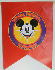 "32"" Official Disneyana Convention Red Vinyl Flag Banner Htf!"
