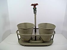 Metal Indoor/Outdoor Faucet Planter 3 Piece Set w/Distressed Finish - New!