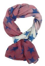 Pañuelo Mujer Estrellas Rosa Blanco Azul de Ella Jonte ESTRELLA bufanda viscosa