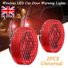 pair Car LED Warning Door Opened Avoid Crash Wireless Flash Light Indicator UK