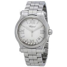 Chopard Happy Sport White Matte Dial Ladies Watch 278582-3002