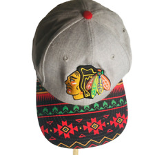 Chicago Blackhawks Cap 59 FIFTY NHL Print Brim, Embroidered Patch, Snap back,