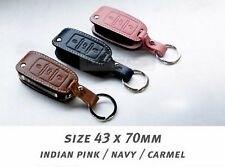 Premium Accessory Leather Cowhide Folding Key Case Cover for VOLKSWAGEN Jetta
