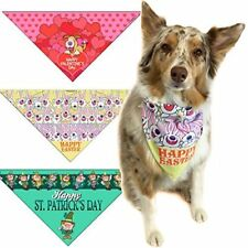 Valentines Day, St Patricks Day & Easter Dog Bandana Med to LG Dogs -202-LG