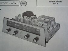 FISHER 101-R TUNER RECEIVER PHOTOFACT