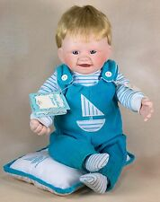 Knowles Christopher's First Smile Boy Porcelain Doll 13 Inch 1991 With COA