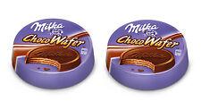 2x Milka ChocoWafer Alpine Milk Chocolate Covered Crispy Wafer Bars 30g 1.06oz