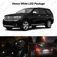 14 x White LED Interior Bulbs + License Plate Lights For 2011-2016 2017 Durango