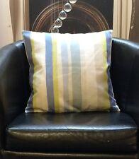 Greem, Blues And Cream Stripes Evans Lichfield Cushion Cover