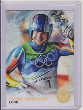 SUPER RARE 2014 TOPPS OLYMPIC CHRIS MAZDZER GOLD RAINBOW CARD #60 ~ LUGE ~ QTY