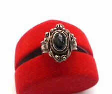 925 Silber Ring mit  Diopsid vierstrahligen Sterndiopsid in kleiner Ringgröße