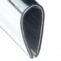 Brushed Stainless Effect Plastic 'U' Edge Trim  12mm x 5mm
