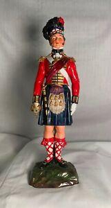 """Antique SITZENDORF """"The Black Watch 1815"""" Scottish soldier figurine, 10¾"""" tall"""