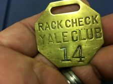 Vintage Brass Yale Club Rack Tag