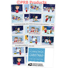 A Charlie Brown Christmas 2015 USPS Forever Stamp booklet of 20 Holiday Peanuts