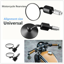 2pcs Motorcycle Scooters Modification Round Handle Bar End Rearview Side Mirrors