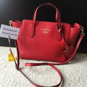 100% Genuine Gucci Red Swing Mini Cross Body Shoulder Bag