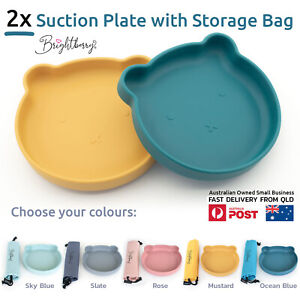2 X Baby & Toddler Silicone Suction Plate Set, Non-Slip Kids Tableware, Placemat