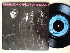"Generation X Valley Of The Dolls A//1 B//2 UK 7"" Chrysalis CHS 2310 1979 EX+"