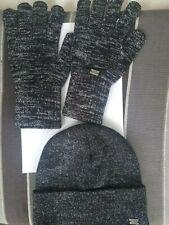 Set Mütze und Handschuhe von Replay schwarz Glitzereffekt 70€ NP