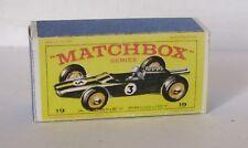Repro Box Matchbox 1:75 Nr.19 Lotus Racing Car grün älter
