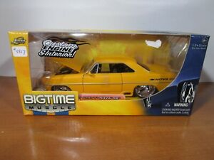 JADA 1/24 BIGTIME MUSCLE YELLOW 1967 CHEVY NOVA SS NEW *DONOR BOX* READ LISTING