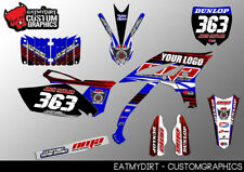 YAMAHA YZF 250 10 - 13 FULL CUSTOM KIT GRAPHICS STICKERS MOTOCROSS DECALS MX
