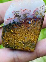 Plume Agate. Plume Moss Agate Rock Rough gemstone Specimen. 100% Natural.