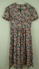 Laura Ashley Vintage floral Maxi Dress 1980s country button front