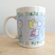 Snoopy and friends coffee tea mug cup Charlie Brown Woodstock spring floral