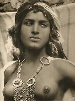 LEHNERT & LANDROCK - Heliogravure , Fatma Nue, ouled nail, Egypte - c.1910