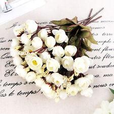 Artificial Rose Silk Flowers 18 Flower White Camellia Peony Bouquet Room Decor