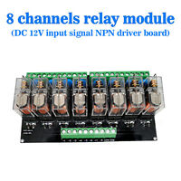 (US) Omron 8 Relay Module Eight Panels Driver Board Module DC 12V NPN
