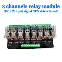 (US) Omron 8 Relay Module Eight Panels Driver Board Module DC 12V NPN