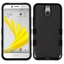 Étuis, housses et coques noirs en fibre de carbone pour téléphone mobile et assistant personnel (PDA) HTC