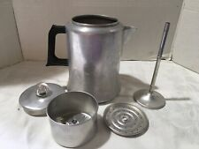 Vintage Aluminum Mirro 8 Cup Stove Top Coffee Pot/percolator
