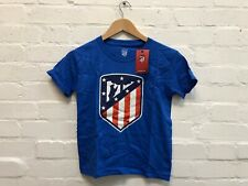 Atletico Madrid CF Kid's Club Class Crest T-Shirt - 3-4 Years - Blue - New