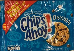 NEW NABISCO PARTY SIZE CHIPS AHOY! ORIGINAL CHOCOLATE CHIP COOKIES 25.3 OZ PACK