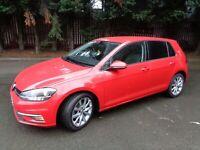 2019 VW VOLKSWAGEN GOLF MK7 1.6 GT TDI 5 DOOR RED LOW MILEAGE MANUAL HATCHBACK