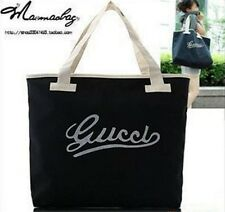 Black letters Women Tote Bag Shoulder Bag Handbag Canvas shopping bag