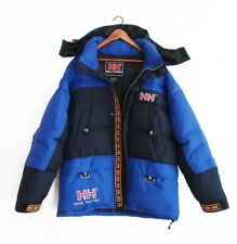 Vintage 90s Mens Helly Hansen Tech Spell Out Down Jacket Blue Navy Oversize XL
