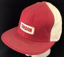 Vtg 80s Mesh Trucker Hat Snapback Patch Cap Tordon Herbicide Farmer Style Crop
