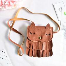 1x Cute Baby Girls tassel Purse handbag Children Kids Cross-body shoulder bag SR
