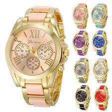 Elegant Geneva Luxury Women's Quartz Analog Watch Roman Numerals Stylish Watches