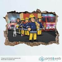 Fireman Sam Wall Smash Decal Sticker Bedroom Vinyl Kids Mural Art