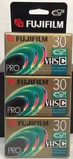 Vtg FUJIFILM PRO VHSC TC-30 CASSETTE 3-PACK NEW IN PACKAGE