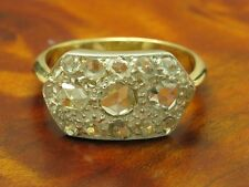 18kt 750 Bicolour Gold Art-Decó Ring with 0,78ct Diamond Decorations/3,2g/ Rg