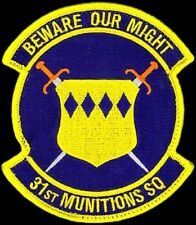 USAF 31st MUNITIONS SQUADRON - Aviano AB, Italy - ORIGINAL AIR FORCE VEL PATCH